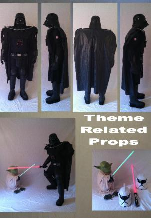 Darth Vader ( from star wars) super hero character costume rental in Houston, Texas for birthday parties.