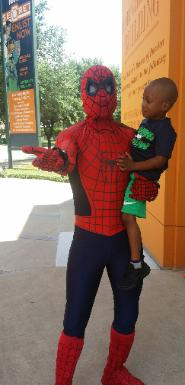 Spiderman superhero party character in houston, texas for kid's birthdays.