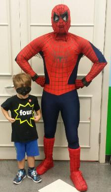 Spiderman superhero party in Houston , Texas at the children's museum of Houston.