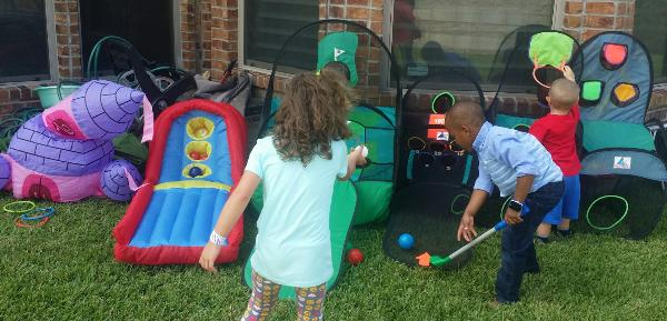 party games for kid's birthday parties in houston, Texas.