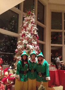 houston elf party for holidays