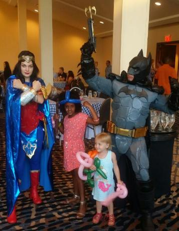 Batman and Wonder woman superhero party rental  in the woodlands