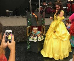 Our princess costumed characters play theme related prop driven activities so that the little girls believe they met the real Princess at their Houston Birthday Party.