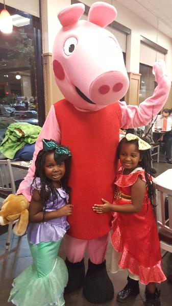 Even princesses love our mascots at chickfila in missouri city.