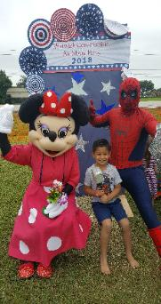 Airshow fun in Clearlake with these 2 costumed characters.
