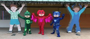 Get all 3 of these super heroes at your Houston area mascot birthday party.