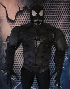 Everyone's favorite Symbiote has arrived in Houston. Get ready for a great superhero costumed characters with cool moving mouth and awesome 3d costume.