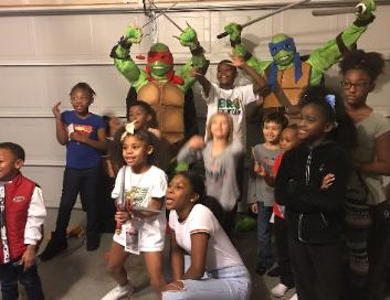 Katy, Texas has very Happy Birthday Parties with super heroes costumed characters.
