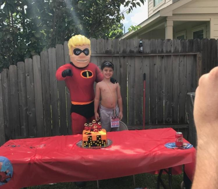 Have our super hero mascot costumed character at your kids special birthday parties.