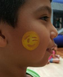 cheek art in houston face painting at kid's birthday parties for kids.