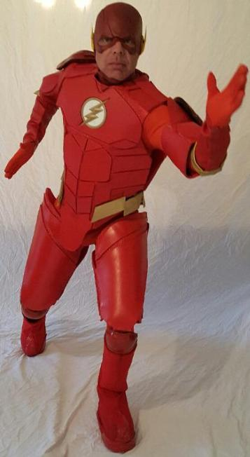 the Flash ( from Justice League) super hero character costume rental in Houston, Texas