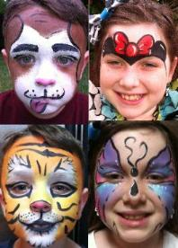 full face painting in houston, face painting in houston, houston clowns, balloon animals, balloon art in houston