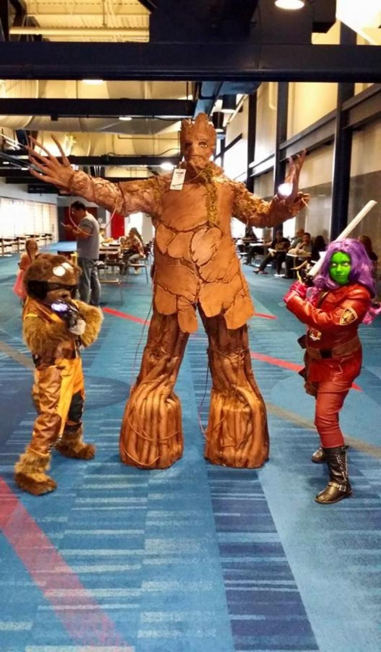 Groot and the guardians of the galaxy superhero birthday party character rental in Houston, Texas.