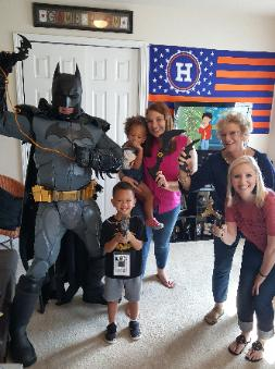 Rent a real super hero for your child's birthday party in Cypress.