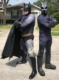 Rent these 2 superheroes for a memeorable birthday party for your child in Houston.