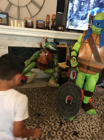 Our Houston turtle comes with great games, props and costume.