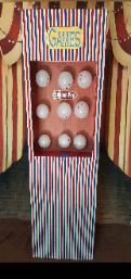 Houston carnival games available as part of the circus theme party package including 8 games like the balloon pop game.