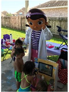 Houston mascot party doc mcstuffins birthday games