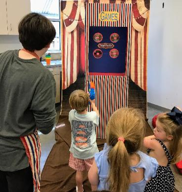 Rent our circus party with carnival games, artist clown, and great photo props at your Houston area child's birthday party.