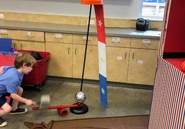Test your kids strength with this hammer game at our circus party carnival game like this powerhouse in Houston at a birthday party.