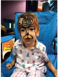 Houston clown party full face painting paw patrol chase