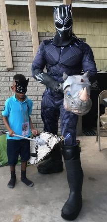 Rent our big cat for a fun Houston birthday party with awesome props and superhero training.