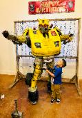 Have this super hero robot at your childs birthday party if you want the best in costume and theme related games.