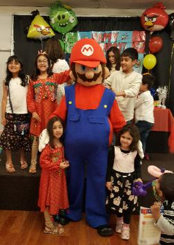 Video game fun in real life at the tempura party hall on hillcroft. Rent us for your next Houston Birthday Party costumed character choice.