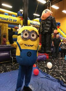 Minions know how to party at Houston birthday parties. Mascot costumed characters are always fun!