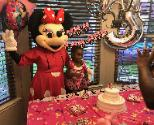 Hire our mascot mouse costumed character for your child's birthday party which includes awesome theme games  in the Houston area.