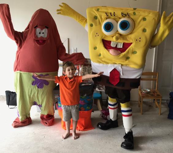 Rent these mascot costumed characters for your birthday party when costumes and games count in the Houston area.