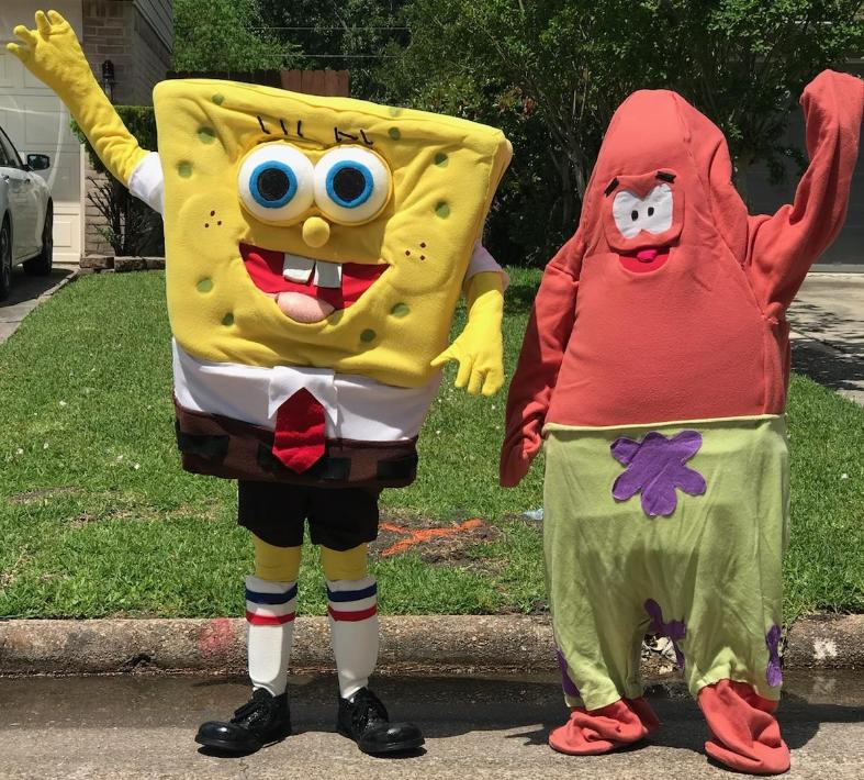 Rent these 2 awesome-costumed characters for your next birthday party in the Houston area for theme games and a great time.