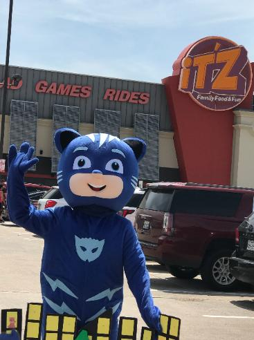 rent this mascot hero to entertain the kids at venues around Houston for birthdays.