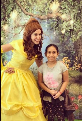Rent a birthday party character like this beauty who loves the beast for a Houston princess party