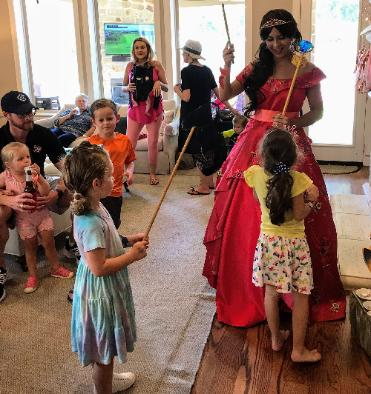 Hire a Houston Princess party character for your child's Houston birthday party.