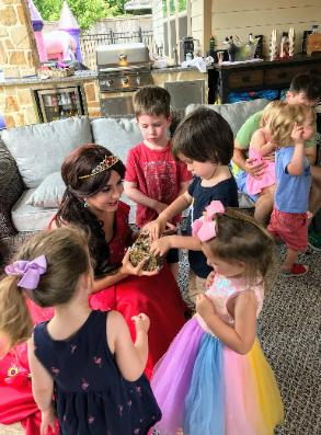Hire a Houston princess for a kid's birthday party with great games and fun.