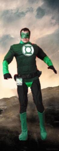 Hire a Green Lantern super hero costumed character for your birthday party in Houston, Texas.