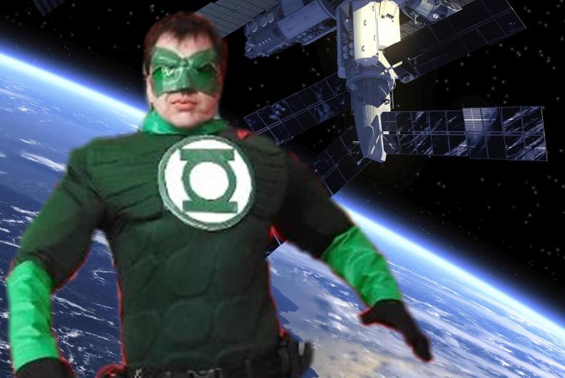 Houston has a new superhero costumed character ready for superhero training to prepare your childs birthday party for fun with just a hint of GREEN.