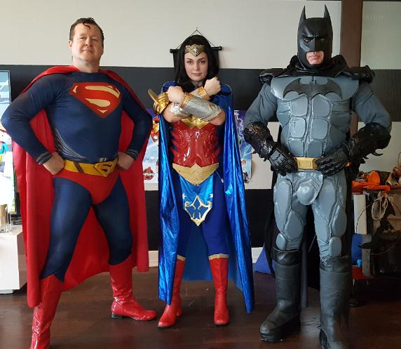 Hise these 3 super heroes for your next event. They bring the best superhero traing tools to make it feel real for the kids.