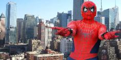 Houston has a new super hero costumed character ready to spin a web and save your childs birthday party.
