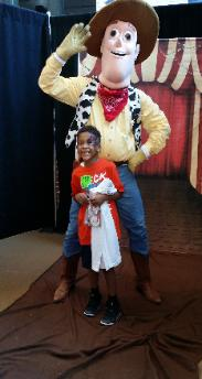Houston children's entertainment birthday party mascot characters like this sheriff toy. Great costume, cool theme games, & even a retractable pull string.