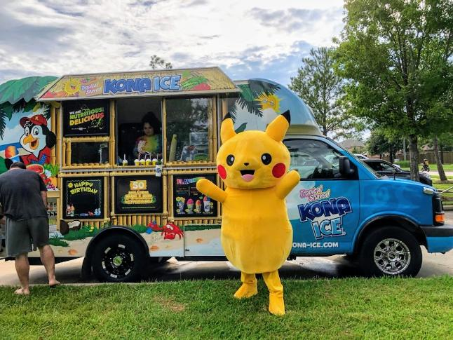 Even Kona Ice joined the fun at the the Legends Run Pokemon Event.
