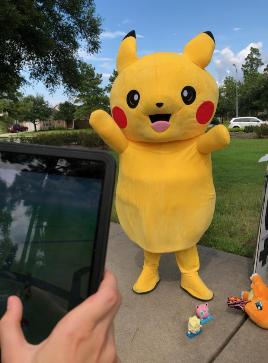 Pokemon go in real life at the Legends run pokemon event available for Houston children's birthday party entertainment.