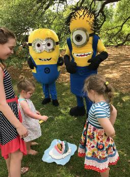 Kids love fishing for bananas with minions at the Houstonian Club in Houston.