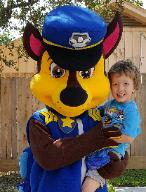 Hire a paw patrol mascot character for your birthday party in Houston, Texas.