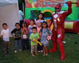 Houston, Texas super hero party rental costumed characters.