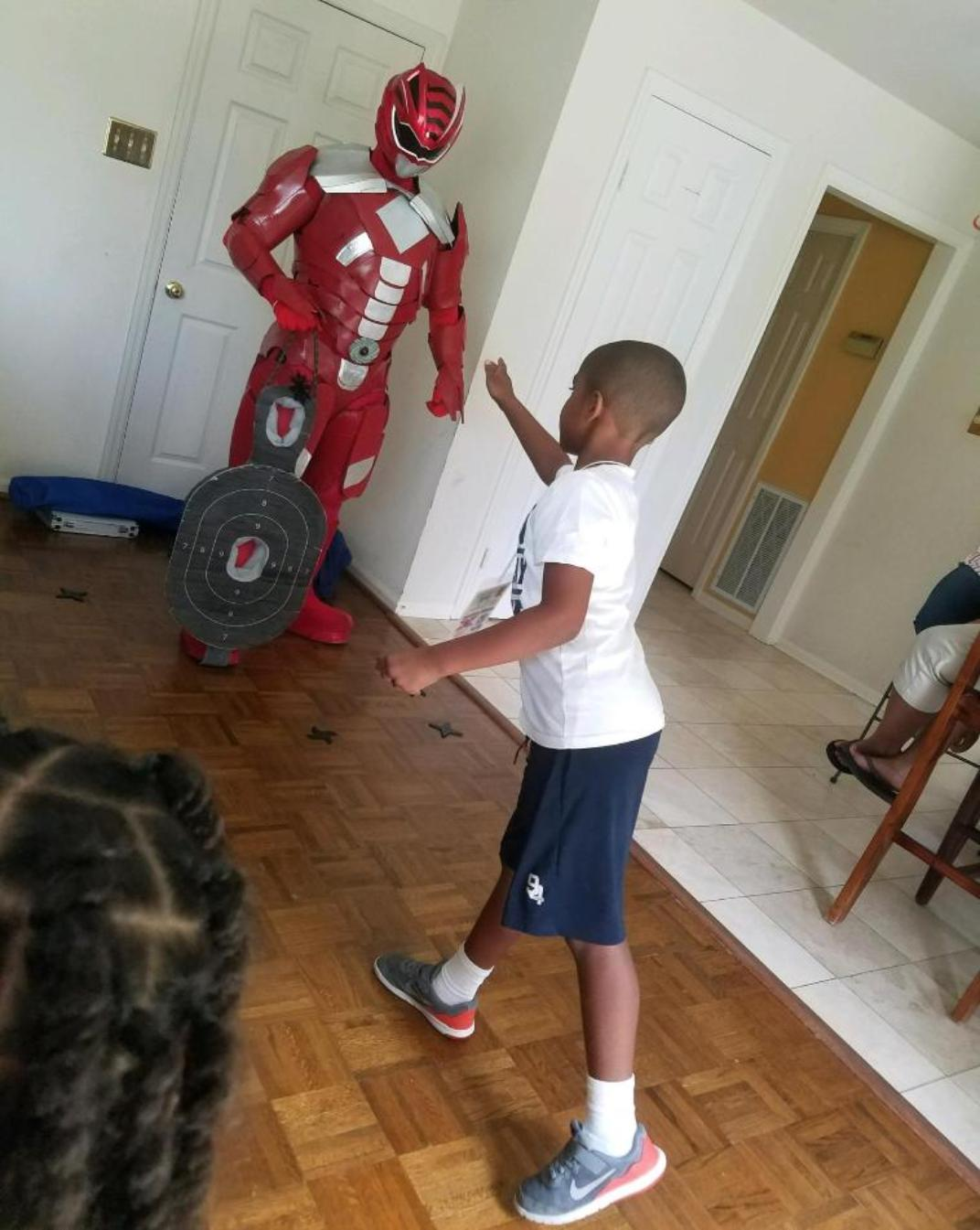Superhero birthday party activities in Sugarland, Texas.