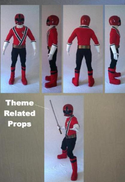 Red Samarai power ranger super hero birthday party character rental in Houston, texas.