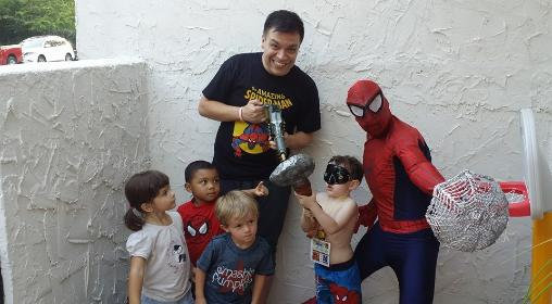 spiderman superhero party