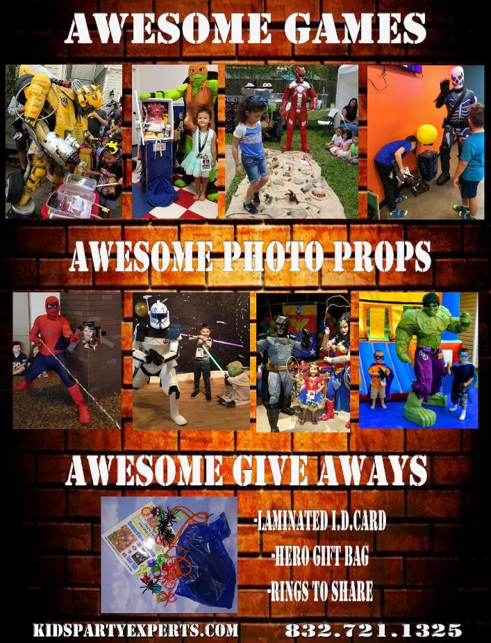 Houston kids party experts provides the best costumed characters in the area. Awresome costumes, games, prizes, & add ons. When choosing the best birthday party entertainment, choose Us.